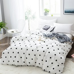 $enCountryForm.capitalKeyWord Canada - New design cotton printing black white dot fashion bedding kids adults duvet cover 1pc quilt cover bedclothes #sw