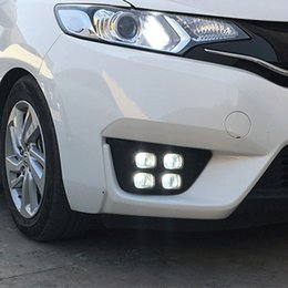 honda fit car accessories 2019 - 2pcs LED DRL For Honda Fit 2014 2015 2016 Daytime Running Light Turn Signal Fog Lamp Relay Daylight Car Accessories disc