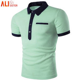 mint plus size shirt NZ - Fashion Mint Green Shirt Men Homme 2019 Summer Style Short Sleeve Solid Color Shirts Mens Polos 3XL Plus Size