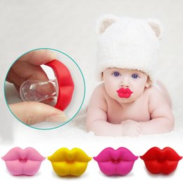 dummy baby lip Canada - Baby Pacifier Red Kiss Lips Dummy Pacifiers Funny Silicone kids Halloween pumpkin snowman Santa Claus Nipples Teether Soothers PacifierC1342