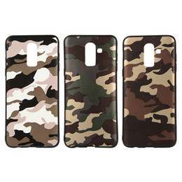 Core Prime Cases UK - FS Camouflage TPU Phone Case for Samsung J2 J3 J4 Core J5 J6 J7 Pro J8 Prime NOTE8 NOTE9 Back Cover