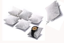 grey velvet display 2019 - 5pcs Velvet & Cotton Bracelet Bangle Watch Pillow Holder For Jewelry Watches Case Box Jewelry Packaging & Display discou