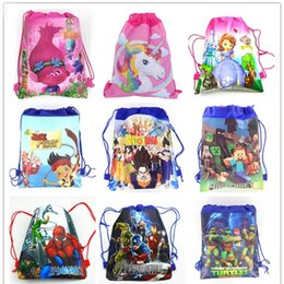 82789201262 1pc Cartoon School Backpack for Boy,Girl Unicorn Drawstring Bag Student  book bag Kids School Bag Spider-man avengers  30941
