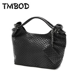 $enCountryForm.capitalKeyWord Australia - shoulder bags New 2019 Korean Style Designer Knitting Women PU Leather Handbags Vintage Woven Shoulder Bag High Quality for Female WZS008