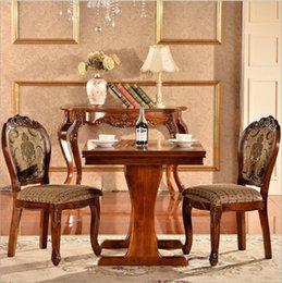 Italian Style Tables Australia - Antique Style Italian Dining Table, 100% Solid Wood Italy Style Luxury marble Dining Table Set o1126