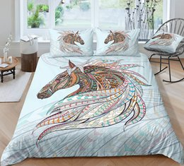 3d bedding set horses Australia - Thumbedding Dropship Horse Bedding Sets On Sale Comfortable 3D Duvet Cover Set Animal Printed 100% Microfiber Bedclothes 3pcs