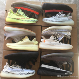 Women shoes summer boots online shopping - Best Quality V2 Men Shoes With Box Sesame Static Butter Men Running Shoes Cream White Women Sport Designer Sneakers