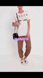 $enCountryForm.capitalKeyWord NZ - women girls unisex brown trousers jogging pants tracksuit drawstring waistband all-over letter motif leggings high-end custom summer runway