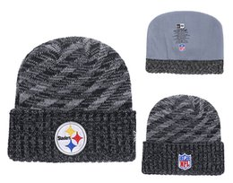 87484748310bc5 Men's Pittsburgh Steelers New Black 2018 Sideline Cold Weather Official  Sport Knit Hat White Black Retro Cuffed Knit Hat With Pom 02