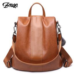 $enCountryForm.capitalKeyWord Canada - Zmqn Backpack Bag For Women 2019 School Bag Ladies Anti Theft Backpack For Teenage Girl Vintage Leather Rucksack Bagpack Bookbag Y19061204