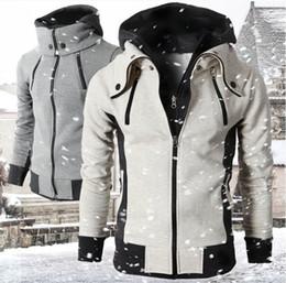 $enCountryForm.capitalKeyWord Australia - Wholesale-Brand fashion luxury designer PLUS SIZE XS-4XL Assassins Creed CSOL Slim Fit Fake 2 Pieces Hoodies Coat Men clothing