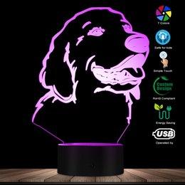 3D Золотистый Ретривер Форма Собаки Современный Дизайн Настроить Имя СВЕТОДИОДНЫЙ Ночной Свет Pet Настольная Декор Лампа Щенок Сонный Свет Собака Любитель Подарок
