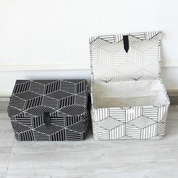 Cloths Storage Boxes Australia - Black White Household Portable Storage Box Clothes Organizer Sundries Storage Box Underwear Bra Packing Makeup Cosmetic Cloth Bag