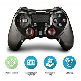 Controller Dual Wireless Australia - PS4 Controller Bluetooth Gamepad 6 Axies DualShock 4 Wireless Controller Touch Panel Dual Vibration Joypad Compatiable with Playstation 4