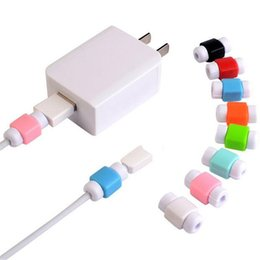 cable saver protector UK - USB Charging Cable Silicone Protector Saver Headset Earphone Wire Cord Protective universal for all cables lowest price