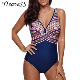 $enCountryForm.capitalKeyWord Australia - One Piece Swimsuit Plus Size Swimwear Women Push Up Bathing Vintage Monokini Bodysuit Beach Wear High Cut Swim Suit Q190513