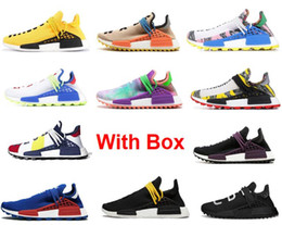 China blaCk fabriC online shopping - Human Race Gold RACE TR HU Trail China Exclusive Passion Peace youth Running Shoes With Box women mens trainers fashion sports Running shoes