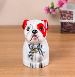 block shop Australia - Ceramic dog piggy bank is a birthday creative gift for children Home shop ornaments ceramic