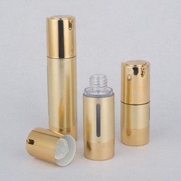makeup drawings 2019 - 15ML 30ML 50ML Gold Wire-drawing Cosmetic Airless Bottle Portable Refillable Pump Dispenser Bottles For Travel Lotion F2