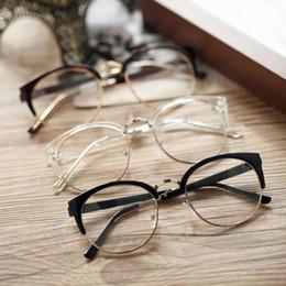 0e249412e5d1 Discount metal anti radiation glasses 2018 Hot Anti-Radiation Goggles Plain  Glass Spectacles Vintage Fashion