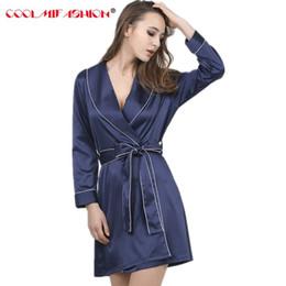 CooLMiFashion Women Chinese Silk Satin Robes Female Superior Bath Robe Lady  Nightshirt Girl Home Sleepwear Bridesmaid Robe femme b57d76224