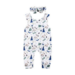 rompers little girls wholesale Canada - Newest Arrival Xmas Little Girls One-piece Moose Rompers Newborn Baby Boy Kid Fawn Sleeveless Romper Outfit Clothes Top 0-24M