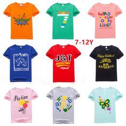 0d4d4ebc8 Cheap Wholesale Big Children Boys Girls clothing T shirts Tees Cartoon Print  Short sleeve Cotton Casual Tops 2019 Summer DHL Wholesale