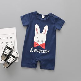 Baby Pullover NZ - 2019 New Boys And Girls Summer Clothes O-Neck Kids Rompers Pullover New Born Baby Clothes Cute Cartoon Baby Girl And Boy Romper