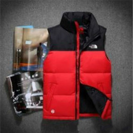 Ingrosso Fashion Brand The Men Inverno Warm Down Vest Feather Dress Giacche North Mens Outdoor Impermeabile Giù Gilet Coat Man Jacket Gilet Face