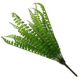$enCountryForm.capitalKeyWord Australia - 15 Forks Artificial Green Fern Grass Persian Leaves Plastic Plants Fake Leaf Wall Hanging Bunch Bonsai Home Wedding Decoration