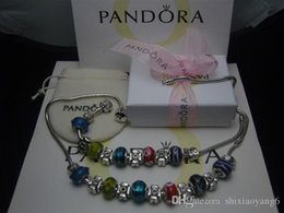 pandora fish Australia - Hot 2018 Pandora Style 2018 Classical Retro Silver Color Black Bead Friendship Bracelets with Charms necklace Bracelet Accessories