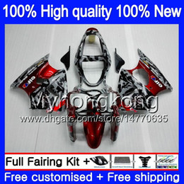 Body For KAWASAKI ZX 600 CC 6 R ZX636 ZX-6R 2000 2001 2002 212MY.0 ZX 636 600CC ZX 6R ZX-636 ZX600 ZX6R 00 01 02 Fairings kit Camouflage red on Sale