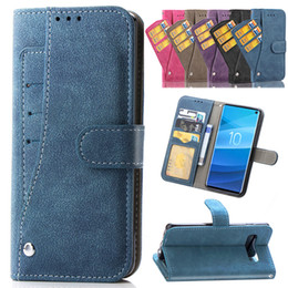 Note Flip Wallet Australia - Matte Leather Rotate Multi-card Photo Frame Slot Wallet Flip Case For iPhone XS Max XR X 8 7 6 Samsung S7 Edge S8 S9 Plus S10 S10E Note 9
