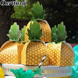 $enCountryForm.capitalKeyWord Australia - OurWarm 24 48pcs Paper Pineapple Candy Box Tropical Pineapple Party Favor Box 9x9x17cm Hawaiian Luau Party Decoration