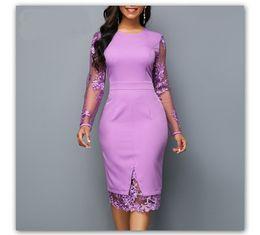 $enCountryForm.capitalKeyWord NZ - Lace Panelled Solid Designer Bodycon Dresses Sexy Lace Long Sleeve Zipper Dress Fashion Ladies Brief Dresses