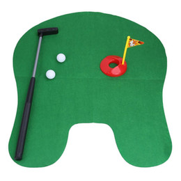 $enCountryForm.capitalKeyWord UK - 1Set Bathroom Funny Golf Toilet Time Mini Game Play Putter Novelty Gag Gift Mat Men's