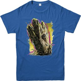 Painting Faces Australia - Guardians of the Galaxy T-Shirt,Groot Face Paint,Adult and kids SizesMen Women Unisex Fashion tshirt Free Shipping