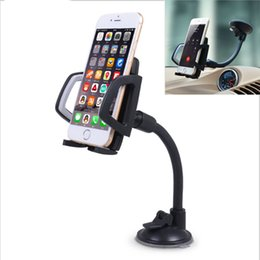 universal car windshield mount for cellphone 2019 - 1 Pcs Universal Long Arm Windshield mobile Cellphone Car Mount Bracket Holder for your mobile phone Stand for iPhone GPS