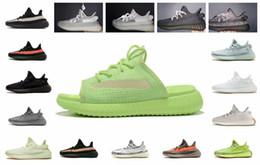 Black heeled sneakers online shopping - v2 Slipplers Black Reflective Static Non M Slipper Blue Tint Copper Zebra Cream White Mens Women Athletics Shoes Designer Shoe clay sneaker