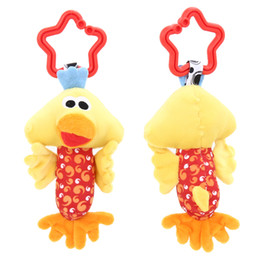 Cute Baby Rattle Australia - rattle tinkle Kids Baby Toys Baby Rattle Tinkle Hand Bell Multifunctional Plush Toy Cute Animal Duck Dog Fawn Hanging Toy for Stroller Crib