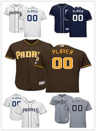3db5a9e31 Men s San Diego Padres Majestic Brown Alternate Navy Alternate Majestic  White Gray Road Flex Base Authentic Collection Custom Jersey
