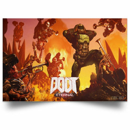 video game decor Australia - Doom Eternal Poster Video Game wall decor Art Silk Print Poster 016