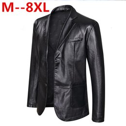 6xl motorcycle Australia - 10XL 8XL 6XL 5XL 4XL Brand PU Leather Jacket Men Autumn Winter Casual Mens Jackets Solid Clothes Elastic Motorcycle Outerwear Y190920