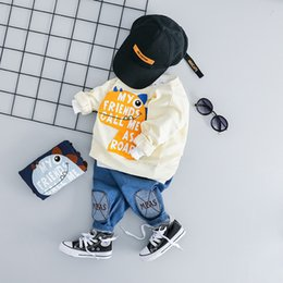 $enCountryForm.capitalKeyWord NZ - Boy Girl Casual Clothes Set 2019 Newest Spring For Toddler Letter Long Sleeve T shirt + Pants Outfit 1 2 3 4 Years