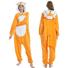 $enCountryForm.capitalKeyWord UK - Animal Cute Jumpsuit Pajamas Unisex Cosplay Costume lovely Animal Onesie Homewear Flannel pyjamas Onesies for sale
