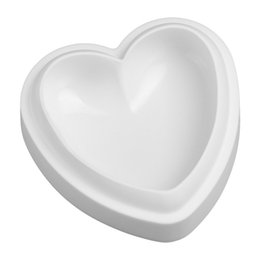 heart shaped cake mould UK - 2019 Hot Sale Lovely Signle Cavity Heart Shaped Cake Mold White Musse Mold For dessert Pudding Molds for decoration