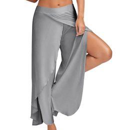 $enCountryForm.capitalKeyWord Australia - 1 Piece Women Well-designed Female High Split Trousers Female Loose Yoga Pants Fitness Yoga Wide Leg Pants