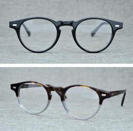 0d431e85bc Vintage Optical Glasses Frame Oliver Peoples Gregory Peck OV5186 Brand  Eyeglasses Frames for Women Men Round Myopia Eyeglasses with Case