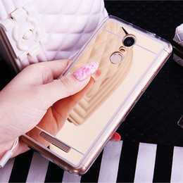 cell phone mirror cover NZ - Soft Mirror Cell Phone Case for Xiaomi Redmi 4X 4A 5 5A 6 Pro 6A Plus S2 Note 4 4X 3 Pro Global Version Mi 6 8 Ultra thin Cover
