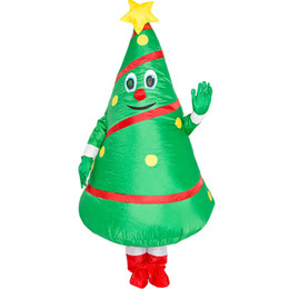 tree costumes NZ - Christmas Tree Costumes Cosplay Funny Cartoon Doll Popular Green Cosplay Polyeter Dress Up Props Inflatable Clothing